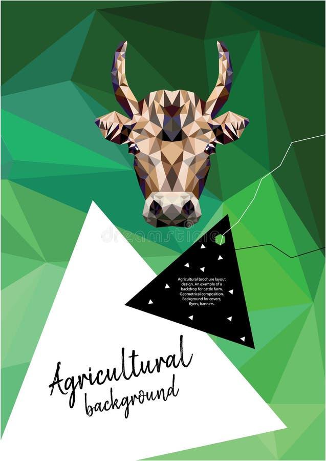 Rolniczy broszurka układu projekt geometrical sk?ad Tło dla pokryw, ulotki, sztandary ilustracja wektor