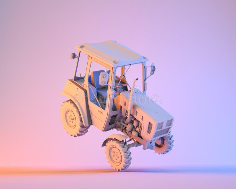 Rolniczy rodzajowy ciągnik ilustracja wektor