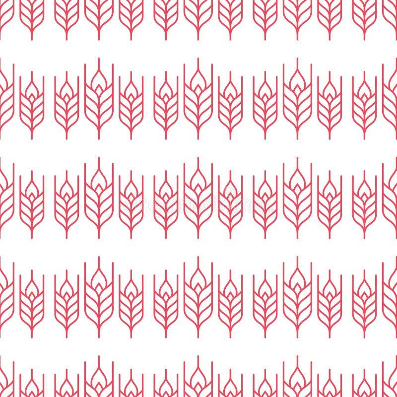 Rolniczy wzór royalty ilustracja