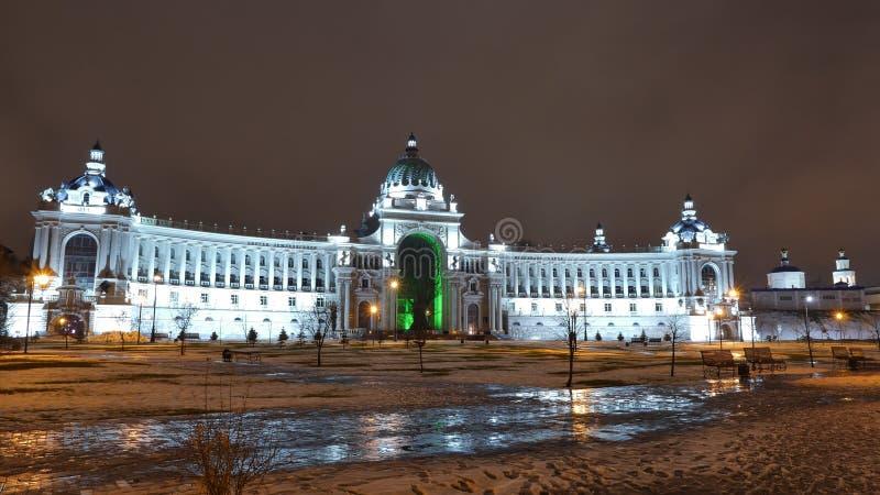 rolników Kazan pałac Kazan Kremlin i milenium park obraz royalty free
