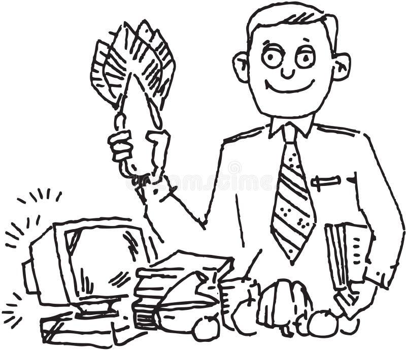 Rolnik i komputer royalty ilustracja