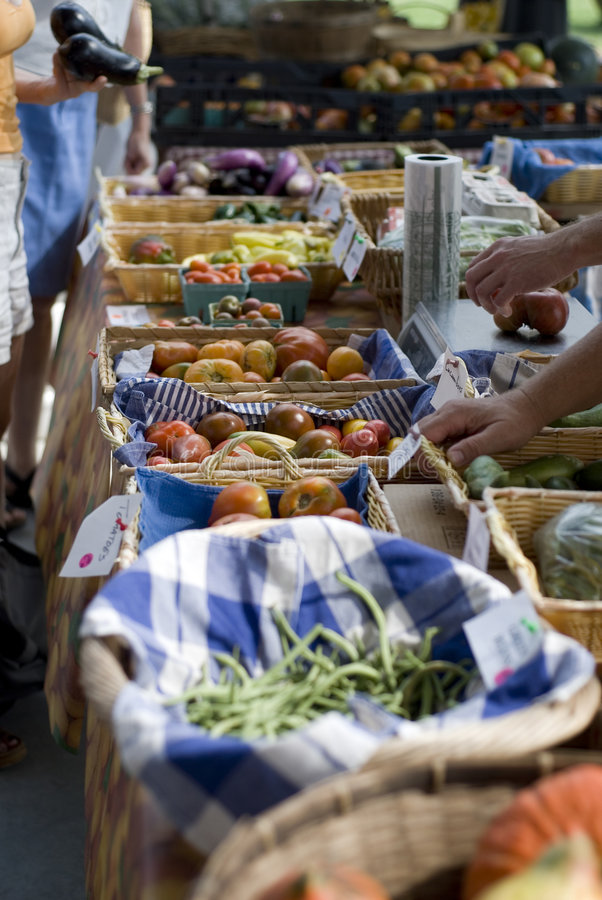 rolnik jest rynku obrazy royalty free