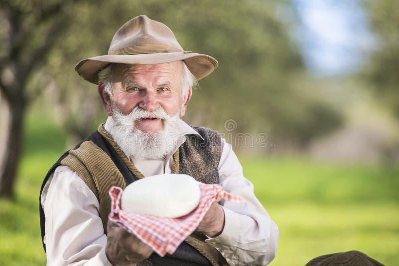 Rolnik z serem obrazy stock