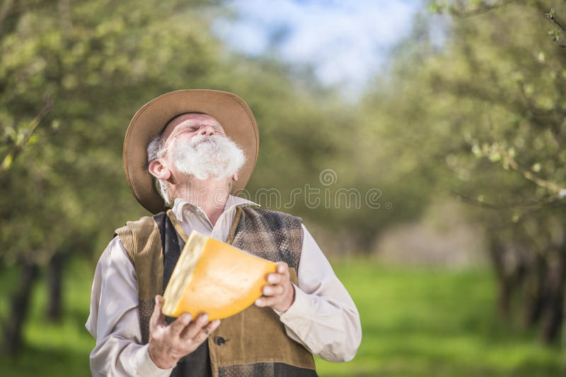 Rolnik z serem obraz stock