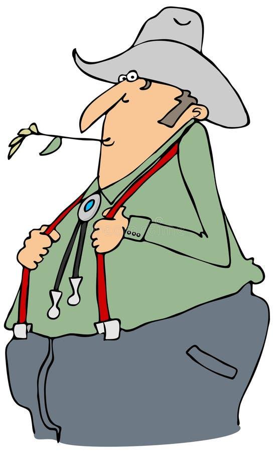 Rolnik z suspenders ilustracji