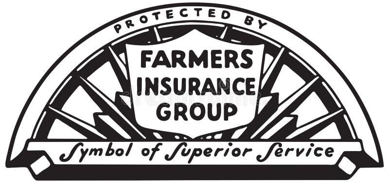 Rolnika ubezpieczenia grupa royalty ilustracja