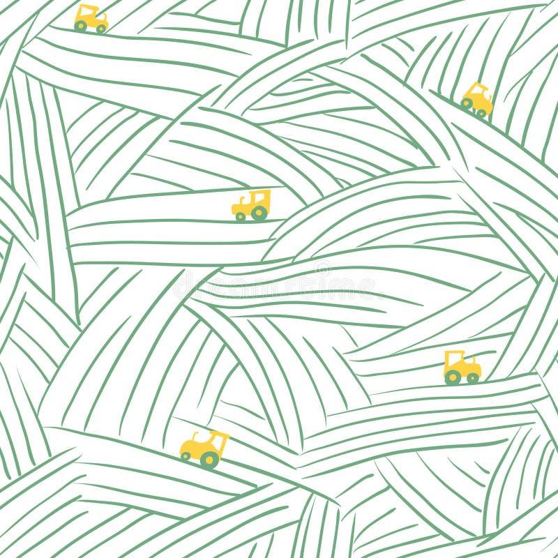 Rolny Bezszwowy wzór ilustracji