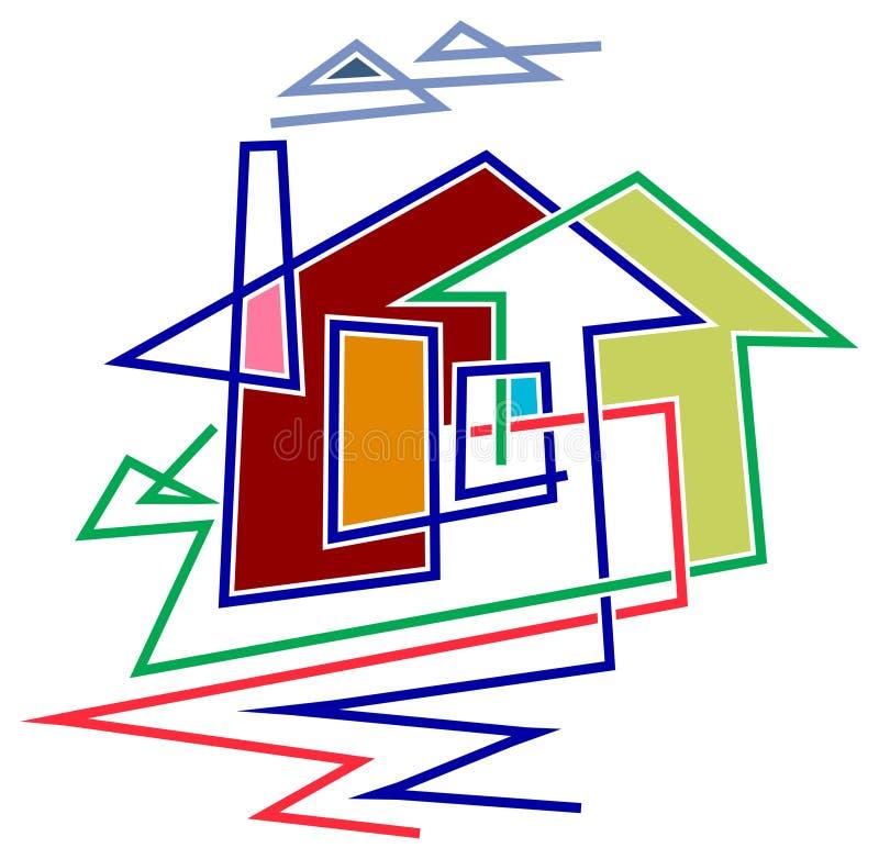 rolny dom ilustracji