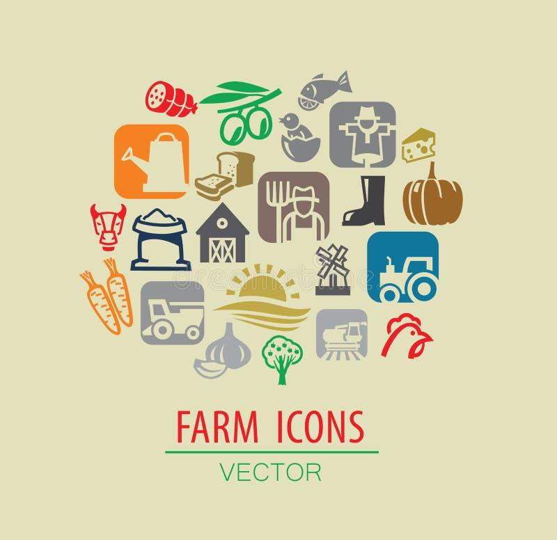 Rolny ikona set ilustracji