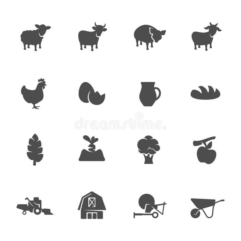 Rolny ikona set royalty ilustracja