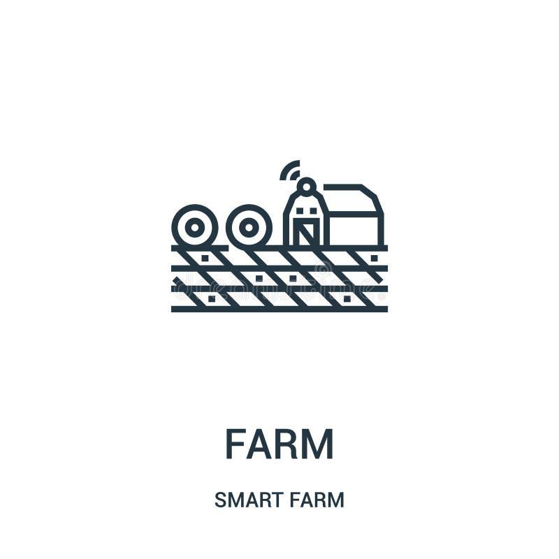 rolny ikona wektor od mądrze rolnej kolekcji Cienka linii gospodarstwa rolnego konturu ikony wektoru ilustracja royalty ilustracja