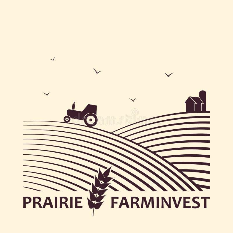 Rolny inwestorski biznesowy logo ilustracja wektor