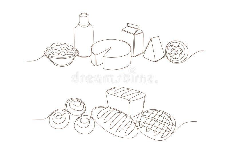 Rolny jedzenie royalty ilustracja