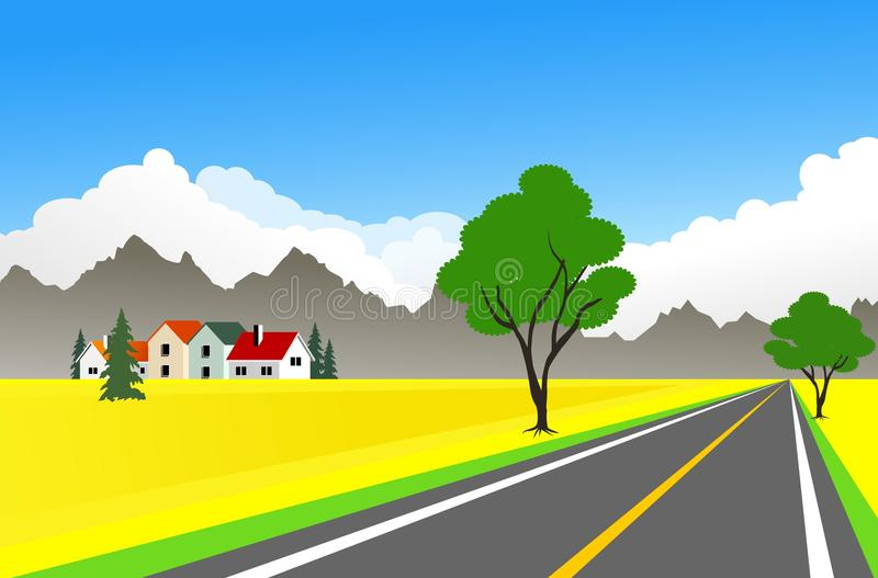 rolny krajobraz ilustracja wektor