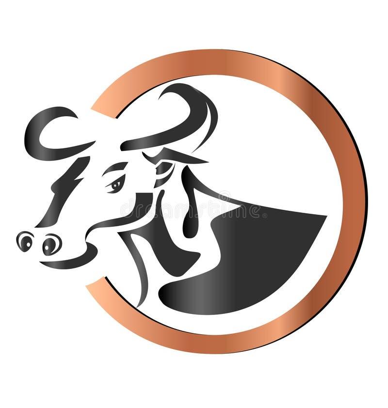 rolny krowa logo ilustracji