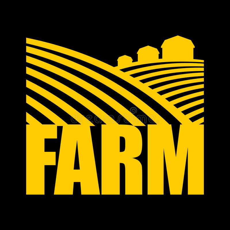 Rolny logo Rolnictwo znak Grunt orny i rolne ziemie ilustracja wektor