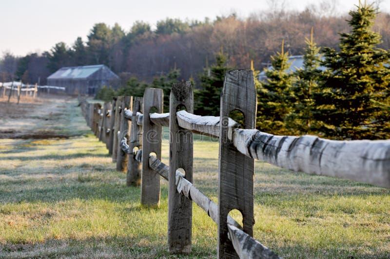 rolny ogrodzenie zdjęcie royalty free