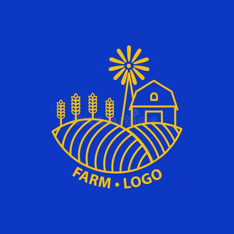 Rolny pojęcie logo ilustracja wektor
