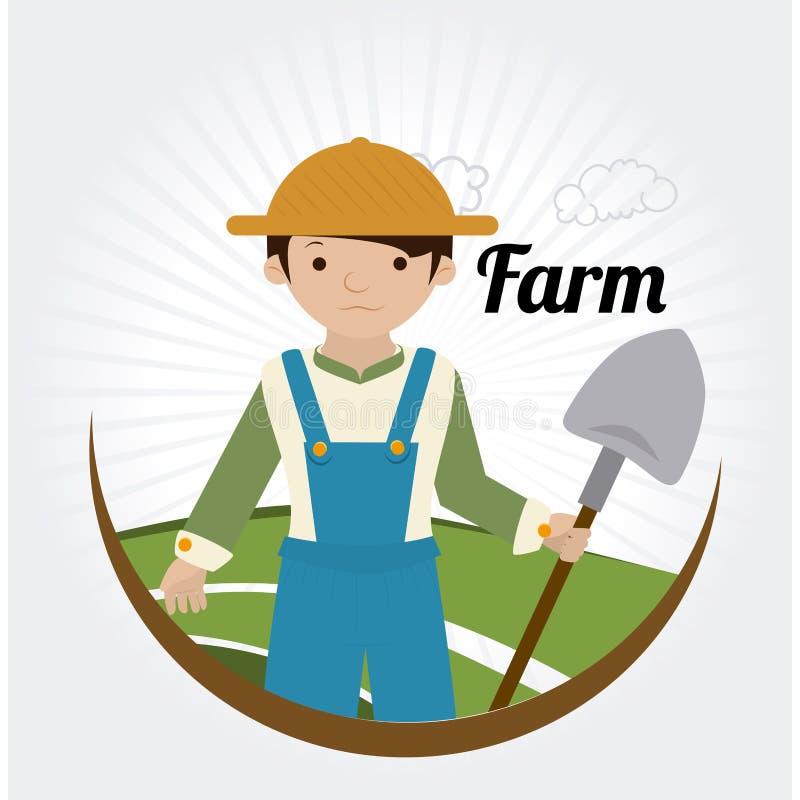Rolny projekt nad białą tło wektoru ilustracją ilustracja wektor
