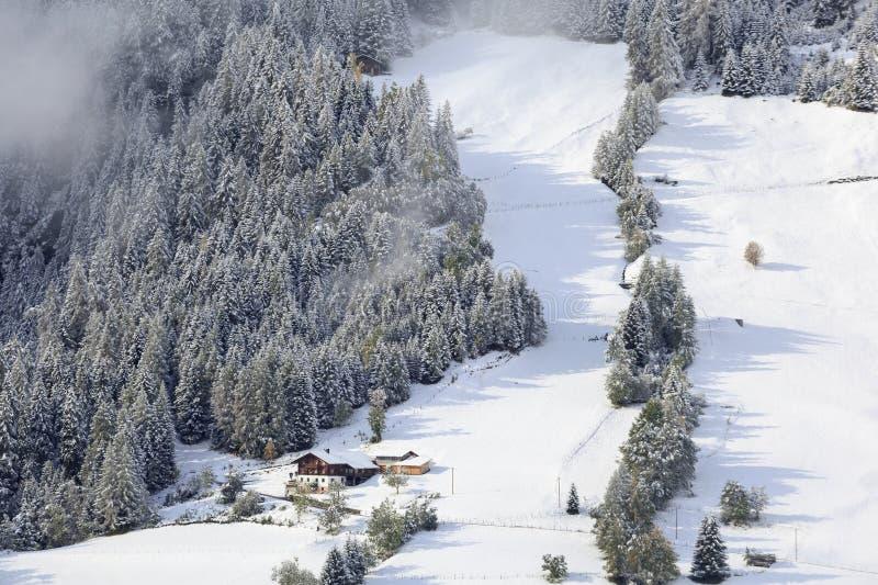 Rolny zima krajobraz obraz royalty free