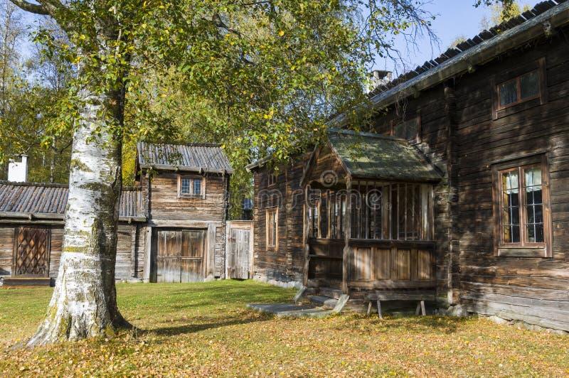 Rolnych budynków Delsbo farmy muzeum zdjęcie stock