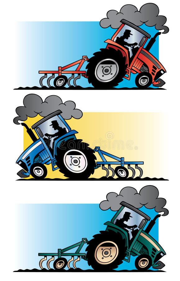 Rolnych ciągników orać royalty ilustracja