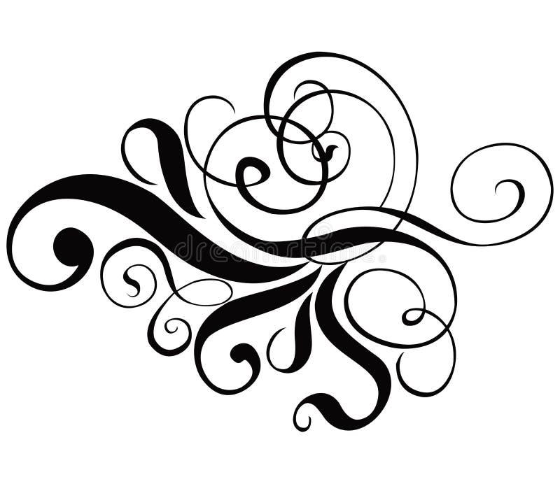 Rolo, cartouche, decoração, vetor ilustração stock