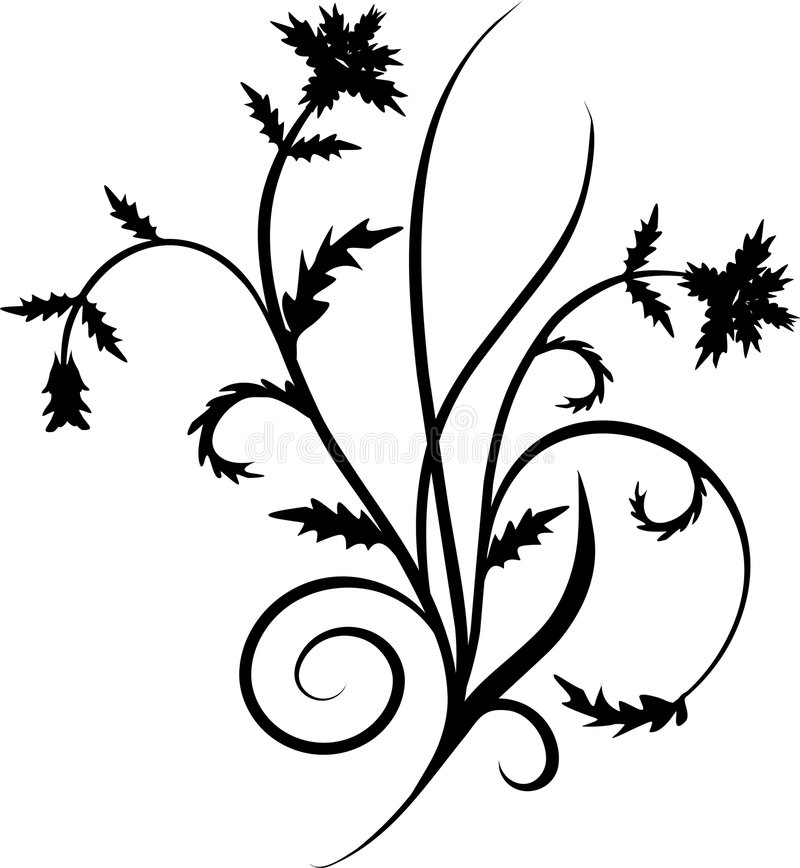 Rolo, cartouche, decoração, vetor ilustração royalty free