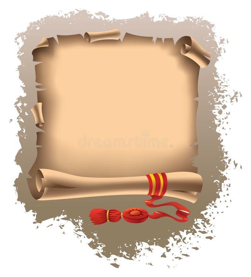 Rolo com bordas e a fita rasgadas ilustração do vetor