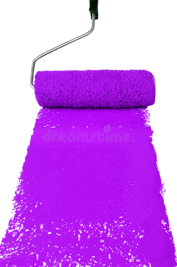 Rolo com pintura roxa foto de stock royalty free