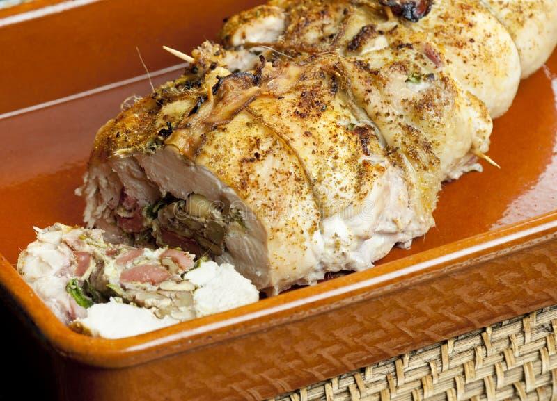 Download Rolo Da Carne De Porco Enchido Com As Salsichas Imagem de Stock - Imagem de indoor, interior: 12811175