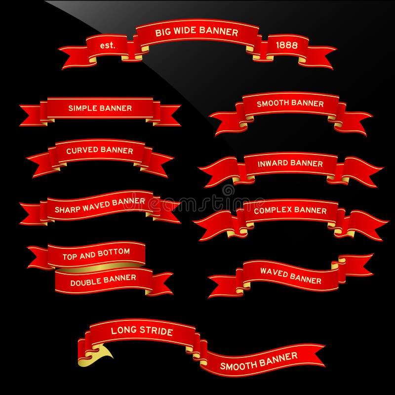 Rolo da fita da bandeira ilustração stock