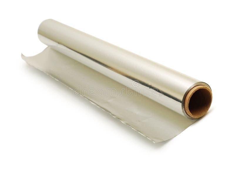 Rolo da folha de alumínio imagem de stock royalty free