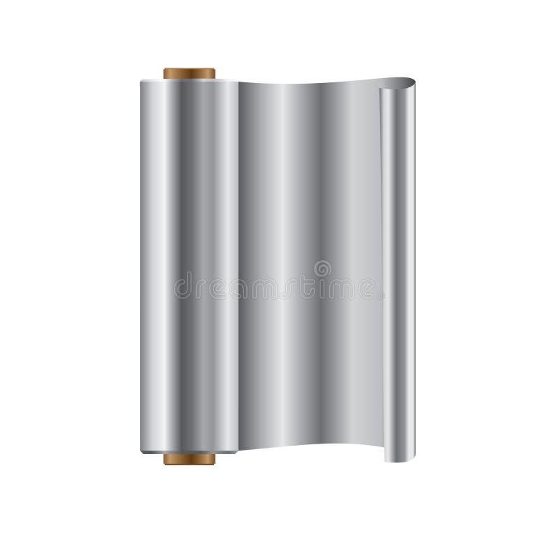 Rolo da folha de alumínio ilustração stock