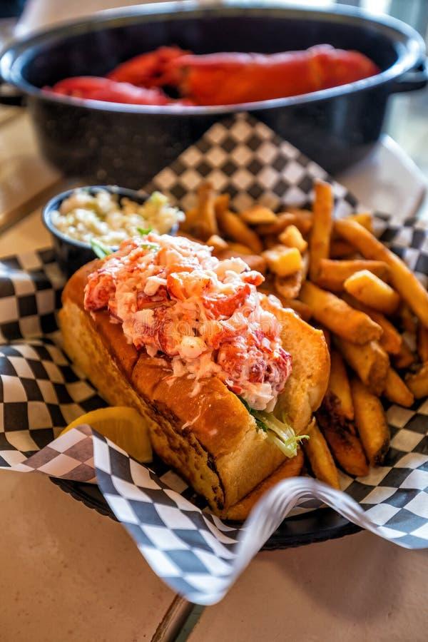 Rolo da lagosta de Maine fotografia de stock