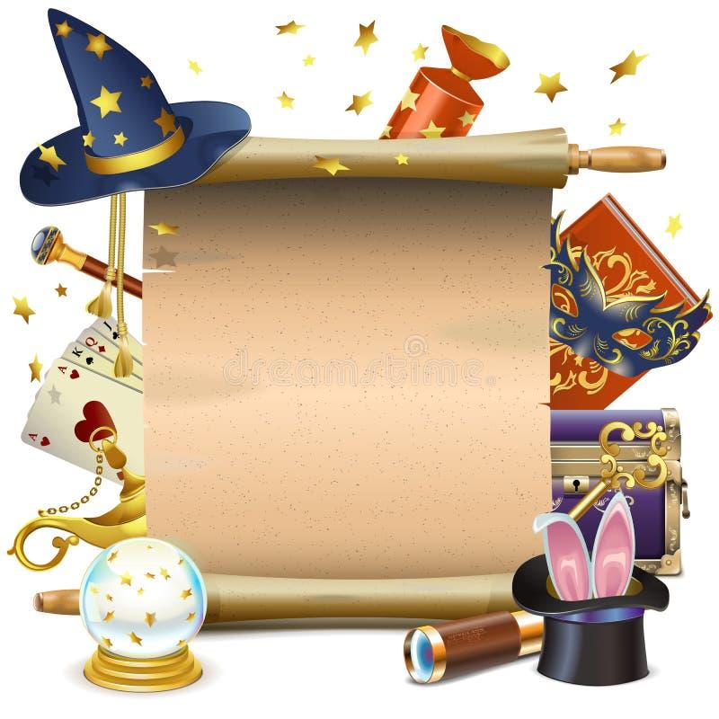 Rolo da mágica do vetor ilustração royalty free
