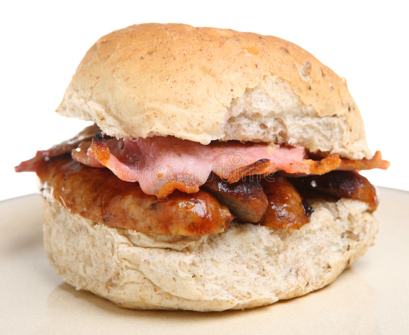 Rolo da salsicha & do bacon imagens de stock