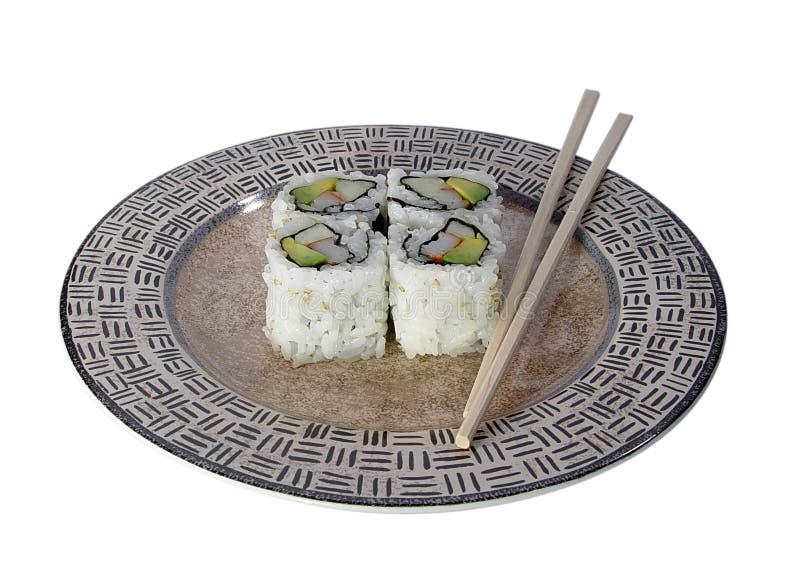 Rolo de Califórnia - sushi imagem de stock royalty free