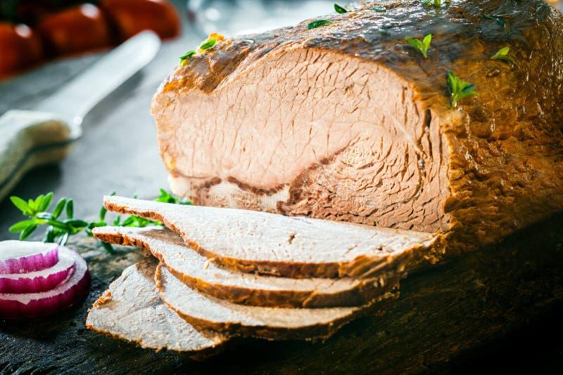 Rolo de carne alemão cortado fotografia de stock royalty free