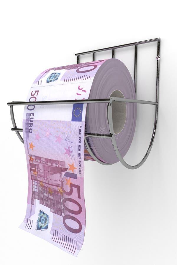 Rolo de 500 contas dos euro ilustração stock