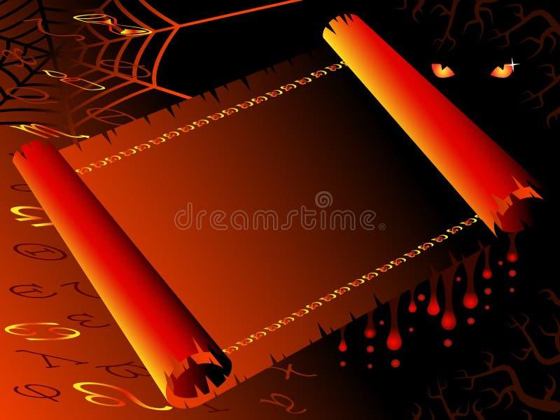 Rolo de Halloween ilustração stock