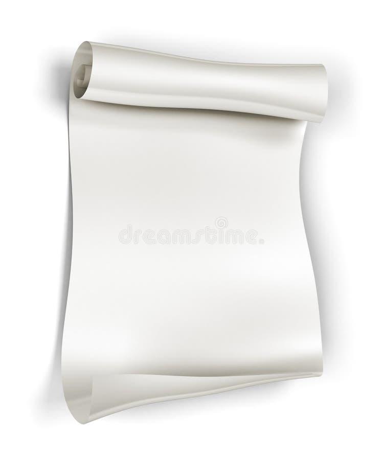 Rolo de papel ilustração stock
