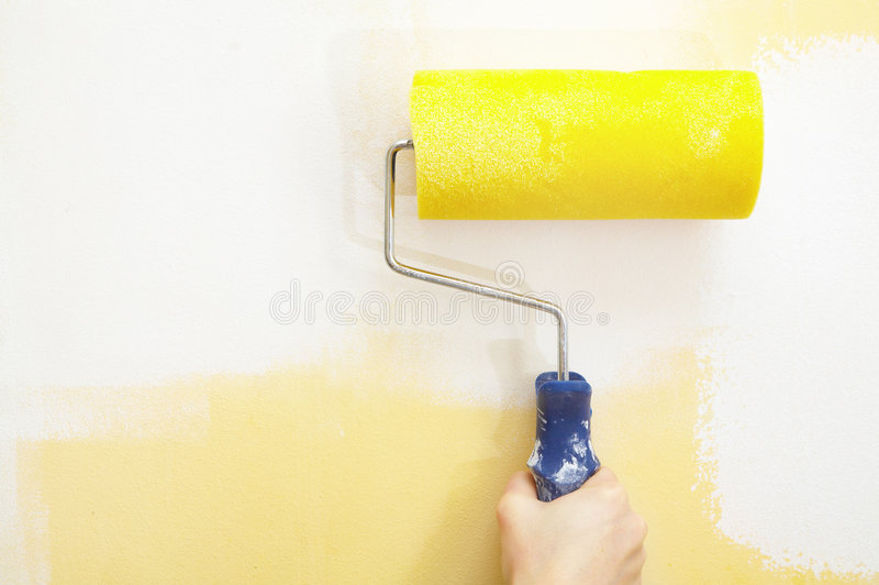 Rolo de pintura fotos de stock