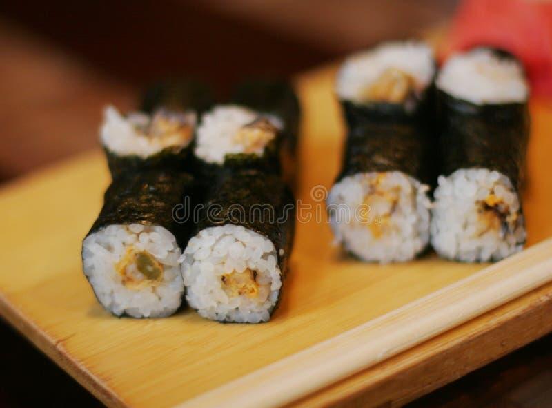 Rolo de sushi, alimento japonês imagem de stock royalty free