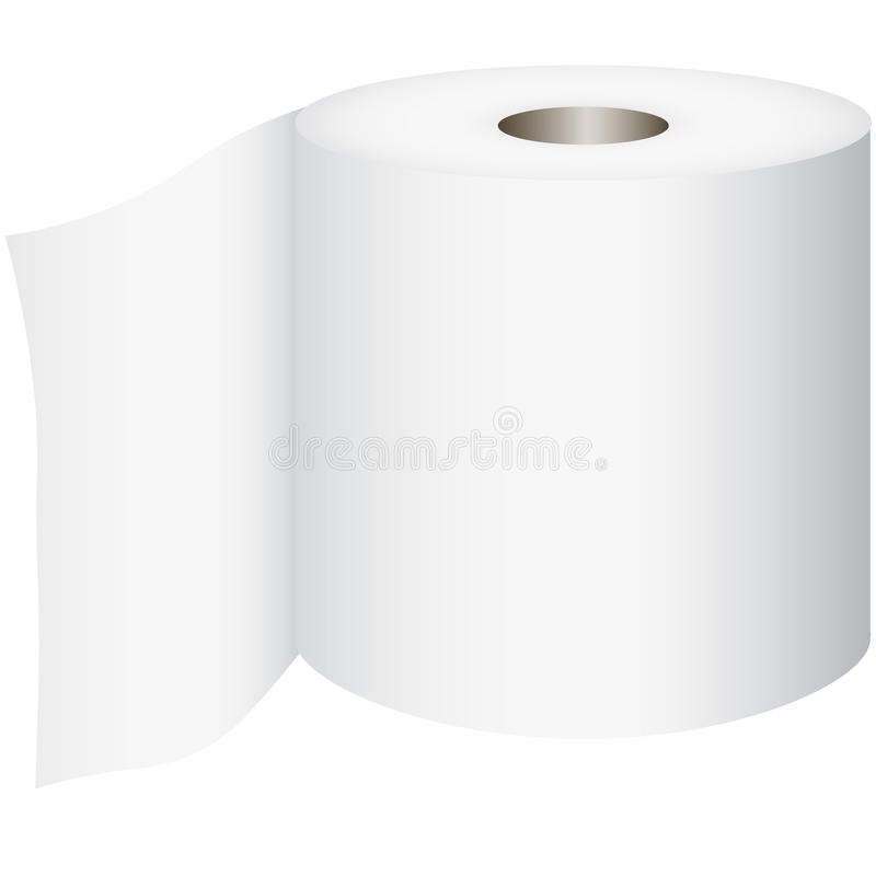 Rolo de toalete ilustração royalty free