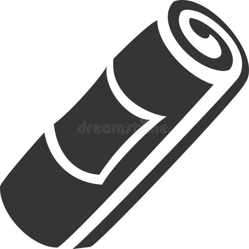 Rolo de toalha com a etiqueta inclinada ilustração royalty free