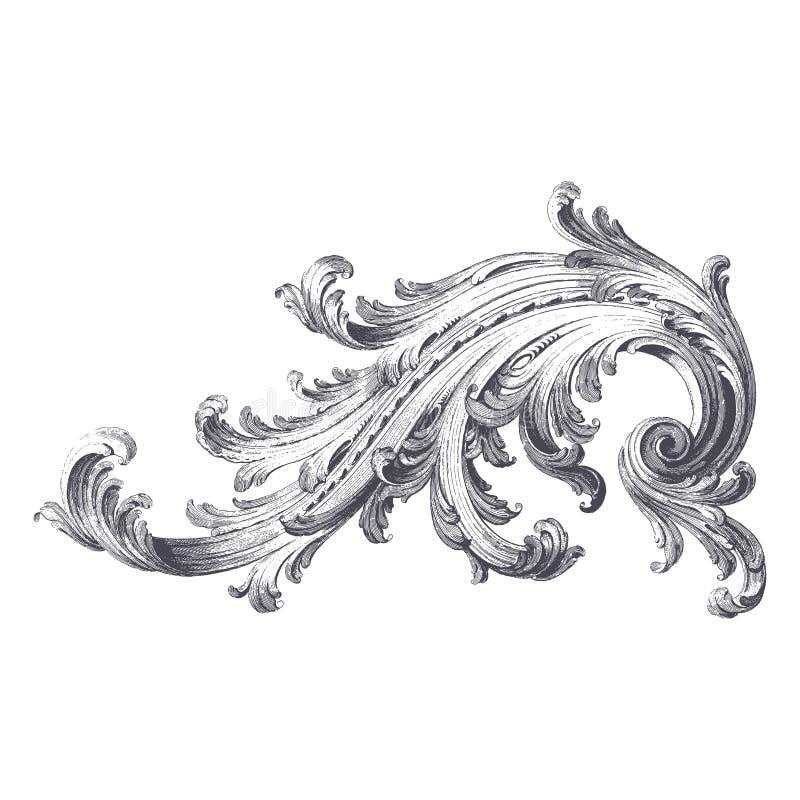 Rolo do Acanthus ilustração royalty free