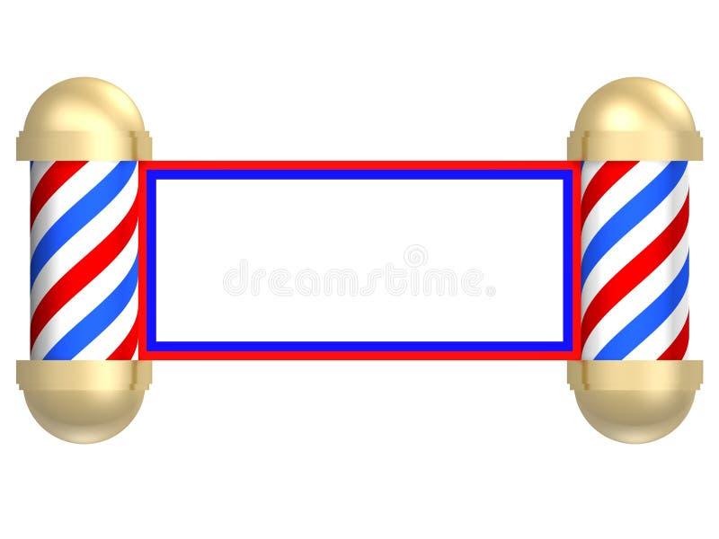 Rolo do barbeiro ilustração royalty free