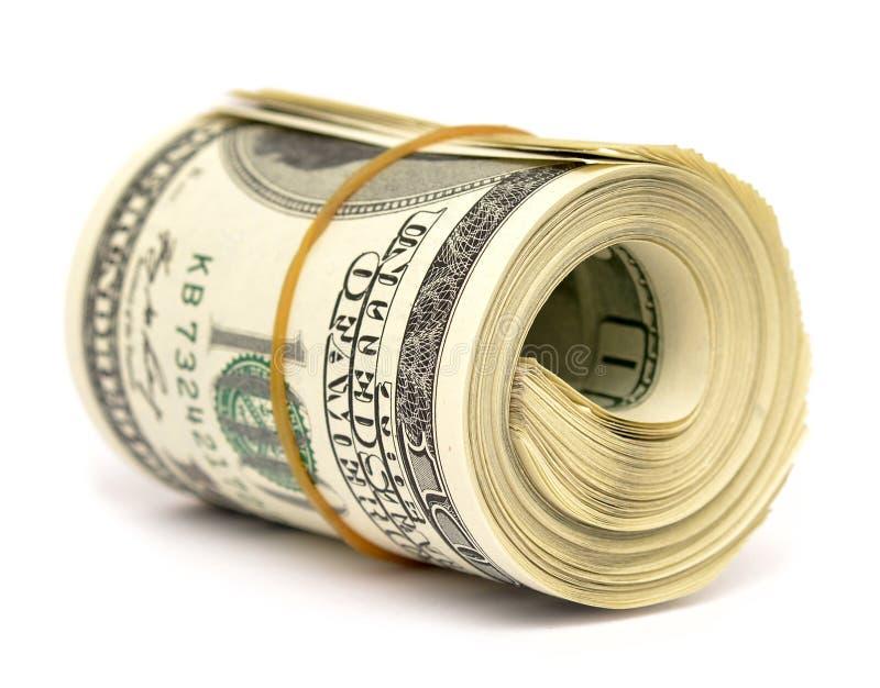 Rolo do dólar imagens de stock royalty free