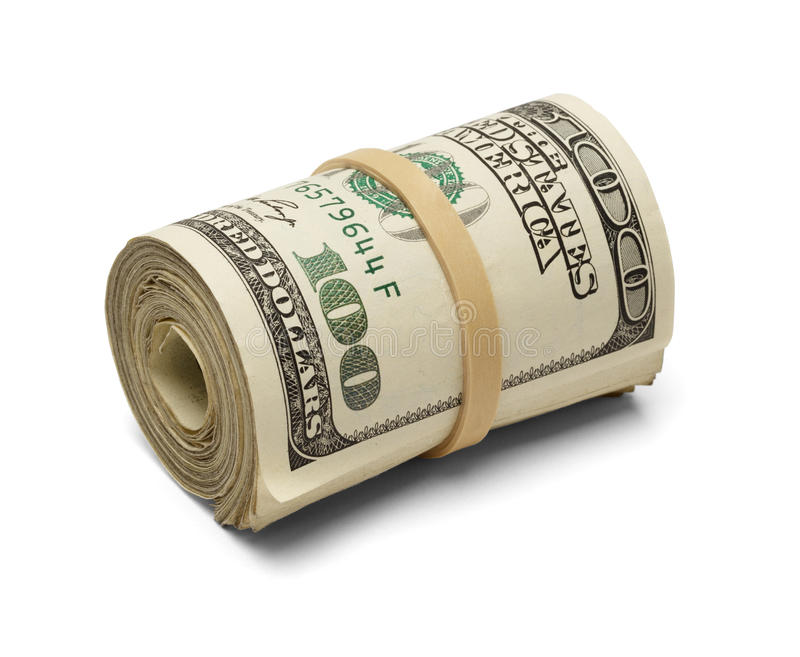 Rolo do dinheiro imagens de stock